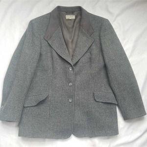L.L. Bean Womens Jacket Blazer Gray 100% Wool   12